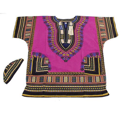 Violet Luxury Dashiki & Kufi