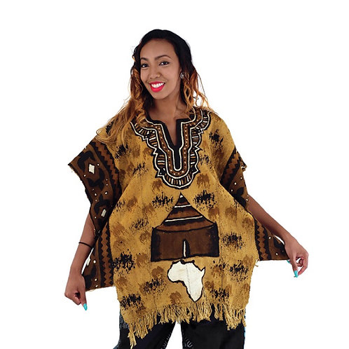 Africa Mudcloth Poncho