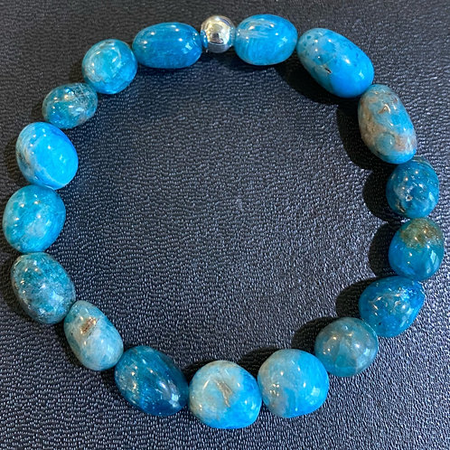 Apatite Pebble Bracelet