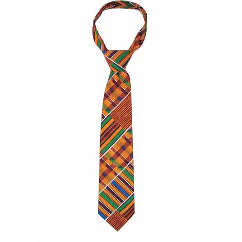 Kente Cloth Tie & Hankerchief Set