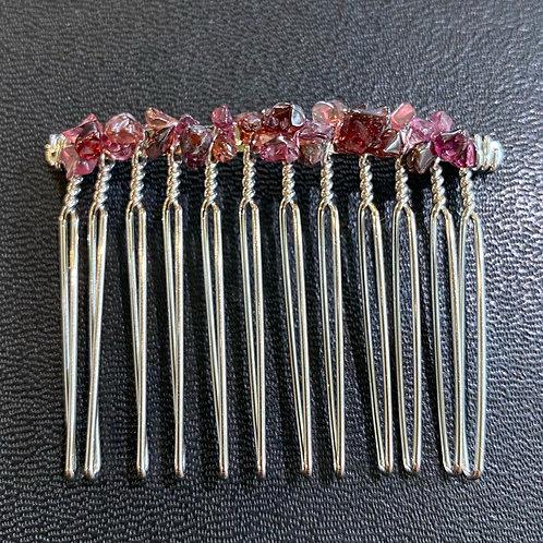 Red Garnet Hair Comb