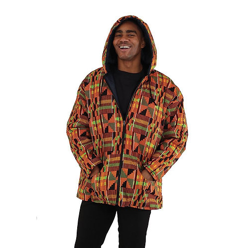 Reversible Kente Denim Jacket