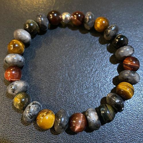 Multicolored Tiger Eye & Labradorite Healing Bracelet