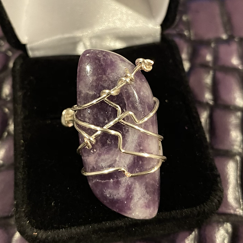Amethyst Wrapped Ring