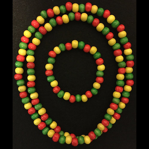 Red, Yellow, Green Necklace/Bracelet Set