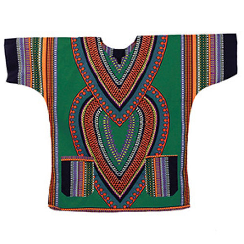Green Heart of the Motherland Dashiki (Free Size)