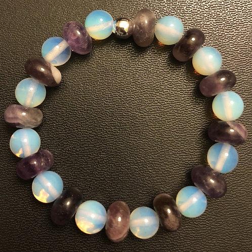 Amethyst and Opalite Healing Bracelet