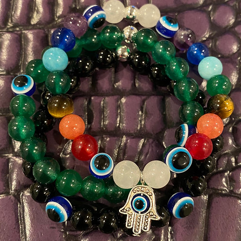 Evil Eye Healing Bracelet Bundle