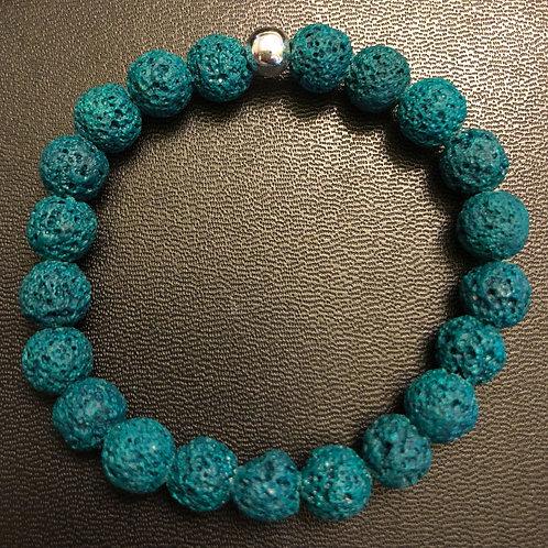 Turquoise Lava Stone Healing Bracelet