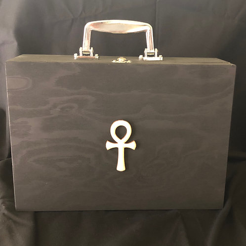 Black Ankh Clutchbox (Large)