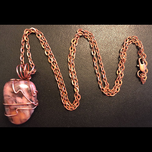 Rhodonite and Copper Necklace