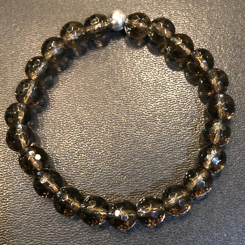 Faceted Smoky Quartz Healing Bracelet