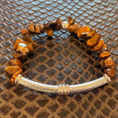 Tiger Eye Chip Bar Healing Bracelet