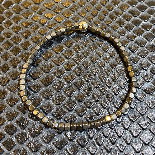 Gunmetal Hematite Healing Bracelet