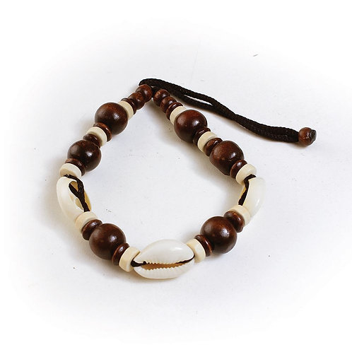Dark Wood and Cowrie Shells