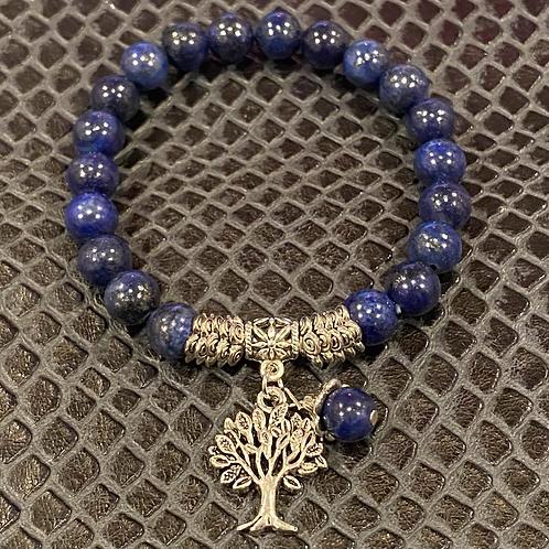 Lapis Lazuli Tree of Life Healing Bracelet
