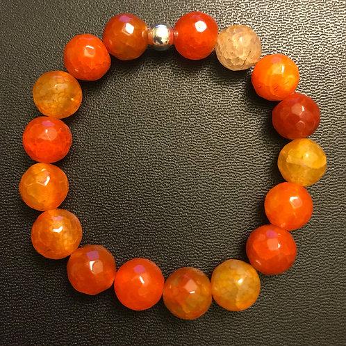 12mm Faceted Agate Healing Bracelet