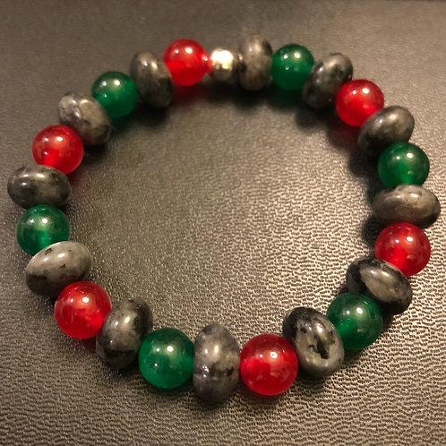 RBG Labradorite and Jade Healing Bracelet