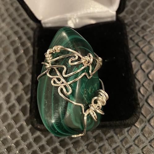 Malachite Wrapped Ring