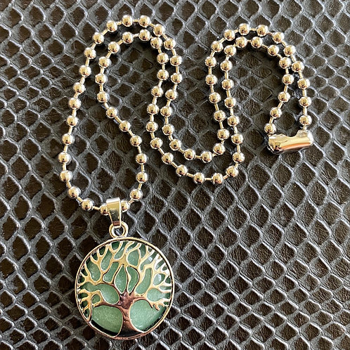 Aventurine Tree Necklace