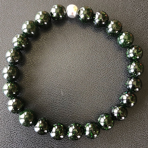 Green Sandstone Healing Bracelet