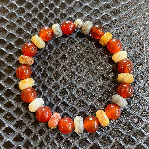 Carnelian & Agate Healing Bracelet
