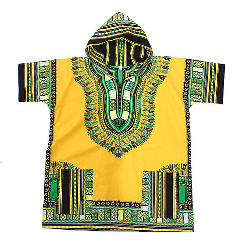Gold Kenyan Hooded Dashiki (Unisex)