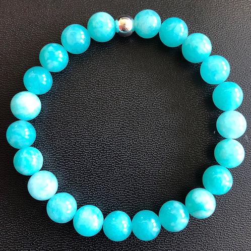 Ocean Blue Agate Healing Bracelet