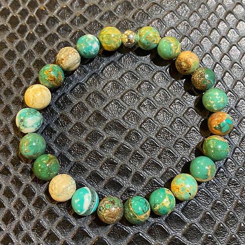 Brown Green Turquoise Healing Bracelet