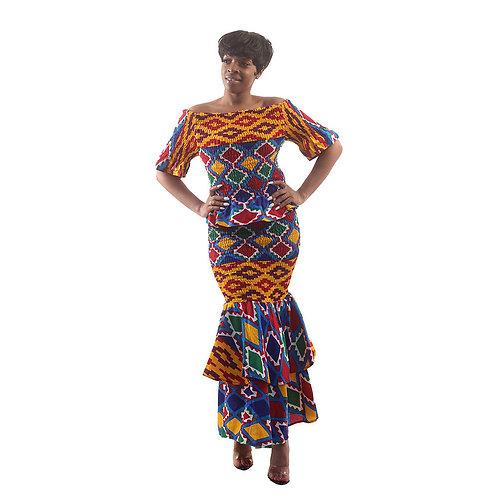 Kente Two-Piece Skirt Set