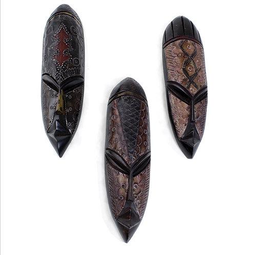 Metal/Wood Ghana Fang Mask