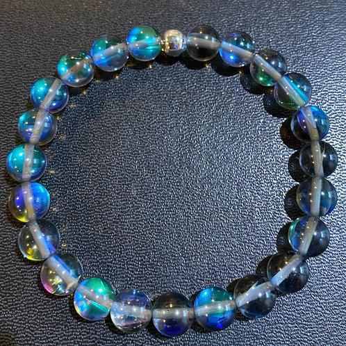 Black Mystic Aura Quartz Healing Bracelet