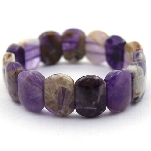18mm Natural Amethyst Bracelet