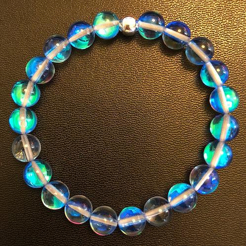 Sky Blue Mystic Aura Quartz Healing Bracelet