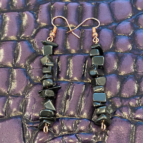Hematite Chip Earrings