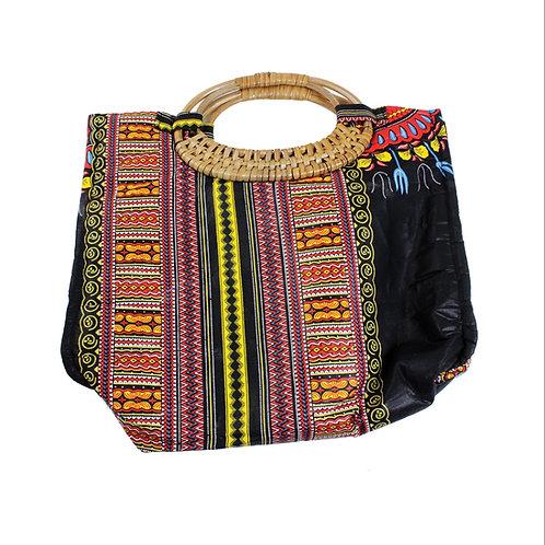 Black Tribal Print Bag