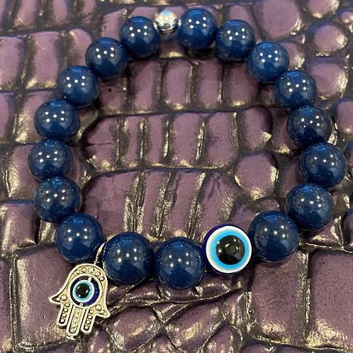Blue Jade Evil Eye Healing Bracelet