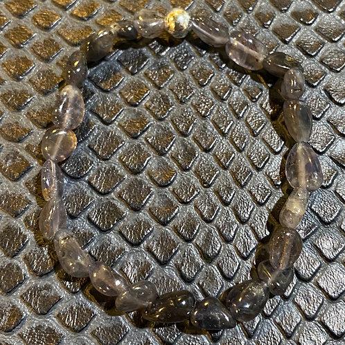 Blue Iolite Nugget Healing Bracelet