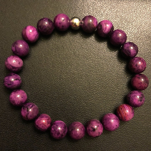 Purple Crazy Lace Agate Healing Bracelet