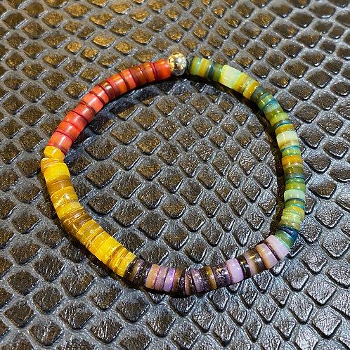 Multicolored Shell Healing Bracelet