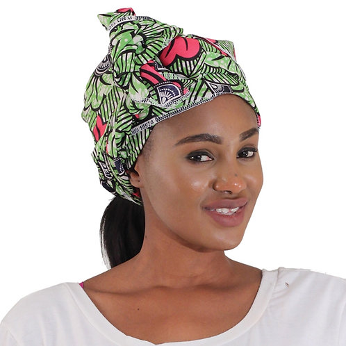 African Head Wrap - Lime
