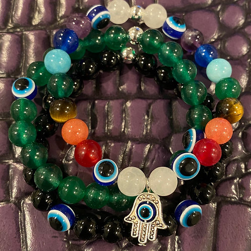 Evil Eye Healing Bracelet Set