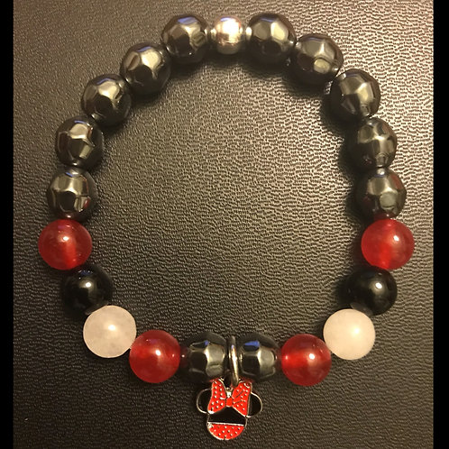 Mini Mouse Jade, Obsidian and Hematite Bracelet