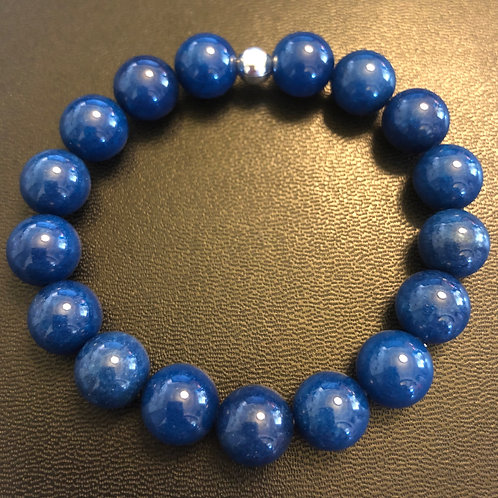 10mm Blue Jade Healing Bracelet