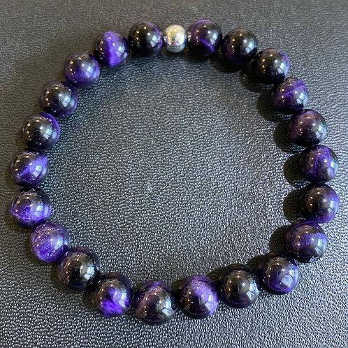 Purple Tiger Eye Healing Bracelet