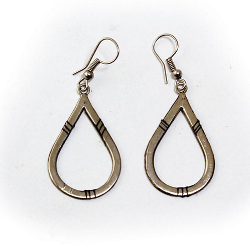 Tuareg Silver Hoop Earrings