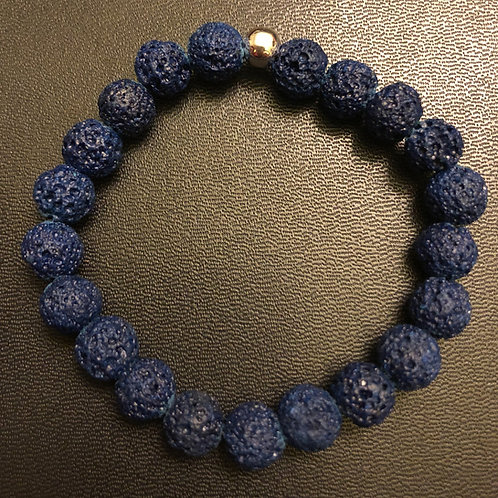 Navy Blue Lava Stone Healing Bracelet