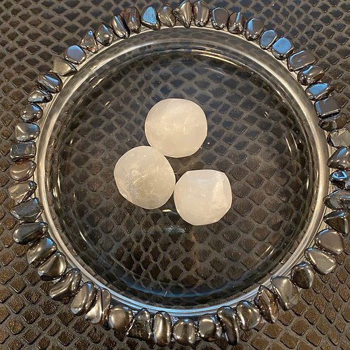 Selenite Ball Palm Stone