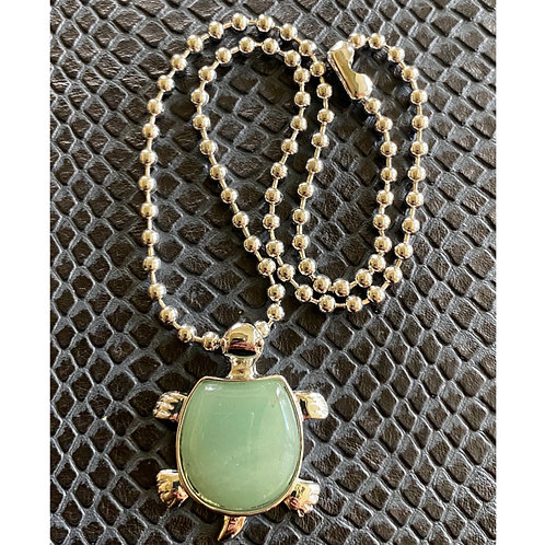 Aventurine Turtle Necklace