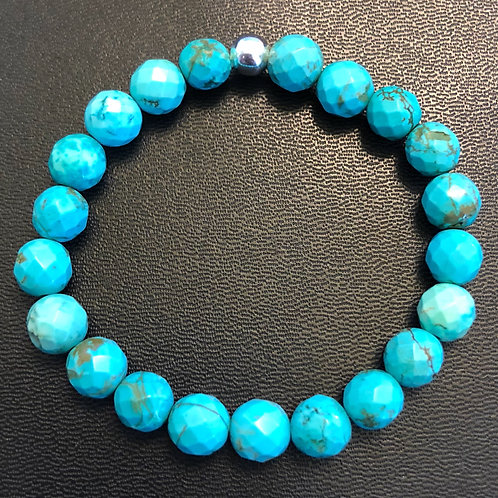 Faceted Turquoise Healing Bracelet